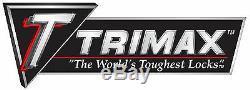Trimax TRZ12PB/TRZ52 Black 12 Powder Coat Drop Hitch & Keyed-Alike Lock Set