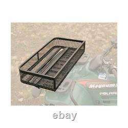 Universal ATV Front & Rear Cargo Basket Durable Powder Coated Steel Set Of 2