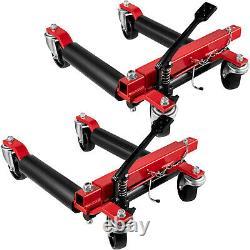 VEVOR Hydraulic Wheel Dolly Car Dolly 2 Pcs 3000 lbs Vehicle Positioning Jack