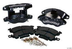 WILWOOD BIG GM BRAKE CALIPER & PAD SET WithPINS, FRONT, 1.28 DISCS, BLACK, D52