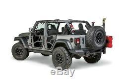 Warn Rear Black Elite Tube Door Set Fits 2018-2019 Jeep Wrangler JL Unlimited
