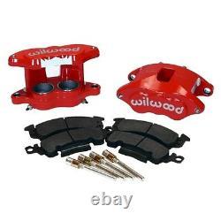 Wilwood 140-11290-R D52 BRAKE CALIPER & PAD SET WithPINS, RED, BIG GM CALIPERS, PADS