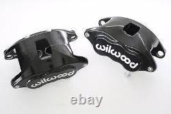 Wilwood Black D52 Brake Calipers & Pad Set 68-96 GM 1.040 Front Rotors