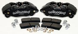 Wilwood Dpha Brake Caliper & Pad Set, Front Stock Replacement, Honda, Acura, Black