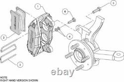 Wilwood Dpha Brake Caliper & Pad Set, Front Stock Replacement, Honda, Acura, Red -
