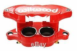 Wilwood Red D52 Brake Calipers & Pad Set 68-96 GM 1.040 Front Rotors